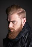 Young man with beard looking at camera Stock Photo