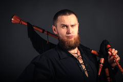 Severe scottish piper Royalty Free Stock Photography
