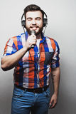 Young man with a beard Stock Image