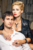 Young man and beautiful young woman Royalty Free Stock Images