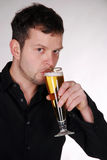 Young man with beer Royalty Free Stock Photography