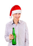 Young Man with a Beer Royalty Free Stock Image