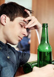 Young Man with the Beer Stock Image