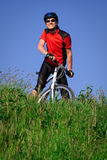 Young man with bicycle Stock Photography