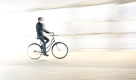 Young man on bike Royalty Free Stock Photo