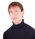 Young man in black Royalty Free Stock Image