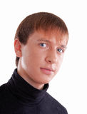 Young man in black Royalty Free Stock Photo