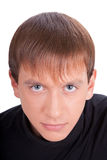 Young man in black Royalty Free Stock Photography