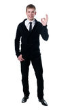 The young man in a black cardigan Royalty Free Stock Photo