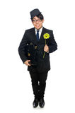 Young man in black costume with flower isolated on Stock Image
