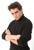 Young man in black Stock Photo