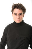 Young man in black Royalty Free Stock Images