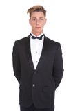 Young man in black tuxedo Royalty Free Stock Photography