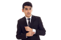 Young man in black tuxedo Stock Image