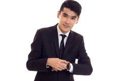 Young man in black tuxedo Stock Photo
