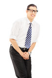 Young man with bladder control problem Royalty Free Stock Photos
