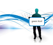 Young man with blank board Royalty Free Stock Photos
