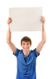 Young Man with Blank Board Stock Image