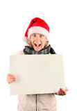 Young Man with Blank Board Royalty Free Stock Photography