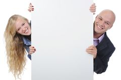 Young man with blank sheet stock photos
