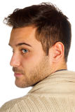 Young man with blue eyes Stock Image