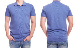 Young man with blue polo shirt Royalty Free Stock Images