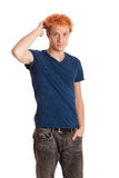 Young Man in Blue Shirt Royalty Free Stock Photos