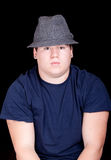 Young Man In A Blue Shirt and Hat Royalty Free Stock Photo