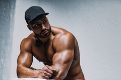Young man bodybuilder stock photography