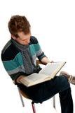 Young man with book Stock Photos