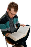 Young man with book Royalty Free Stock Image