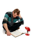 Young man with book Stock Image