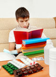 Young Man with the Book Royalty Free Stock Image