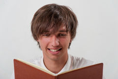 Young man with book Stock Photo