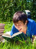 Young Man with a Books Stock Image