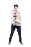 Young man with a books Royalty Free Stock Photography