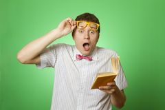 Young man bookworm Stock Photo