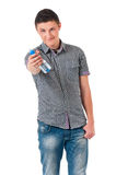 Young man with bottle of water Royalty Free Stock Photo