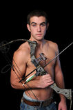 Young Man With Bow Stock Photos