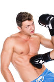 Young man boxing Stock Photo