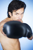 A young man boxing Stock Photo