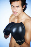 A young man boxing Royalty Free Stock Images