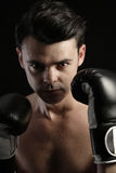 Young man boxing Royalty Free Stock Photos