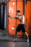 Young man boxing workout Royalty Free Stock Photo