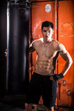 Young man boxing workout Royalty Free Stock Images