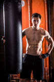 Young man boxing workout Stock Photography