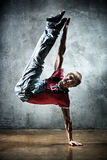 Young man break dance Stock Photography