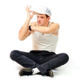 Young man break dancer Stock Photography