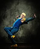 Young man break-dancer Stock Photos