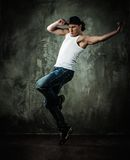 Young man break-dancer Stock Photos